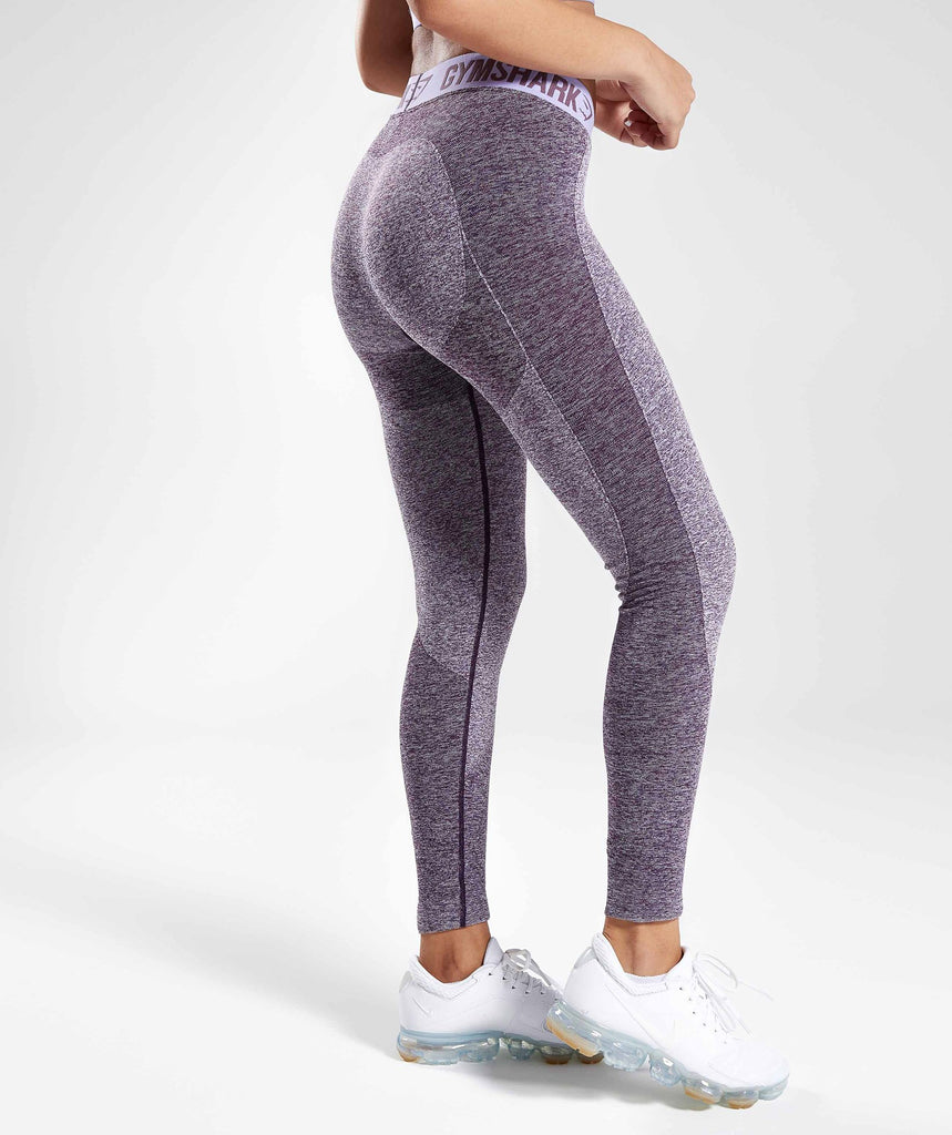 Gymshark Flex Leggings - Rich Purple Marl/Pastel Lilac 2