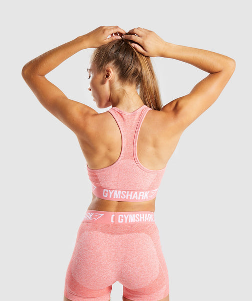 Gymshark Flex Sports Bra - Peach Coral 1