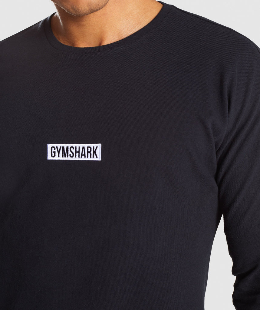 Gymshark Fresh Long Sleeve T-Shirt - Black 5
