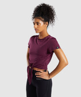 Gymshark Geo Mesh Two In One Top - Dark Ruby 9