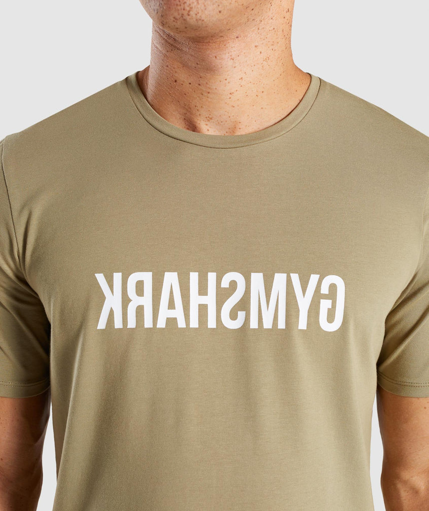 Gymshark Reverse T-Shirt - Light Khaki 5