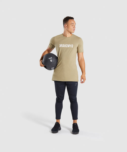 Gymshark Reverse T-Shirt - Light Khaki 3