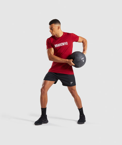 Gymshark Reverse T-Shirt - Full Red 3