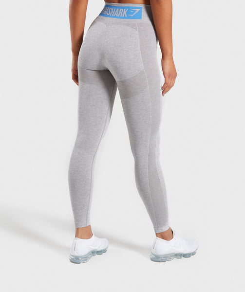 Gymshark Flex High Waisted Leggings - Light Grey/Blue 1