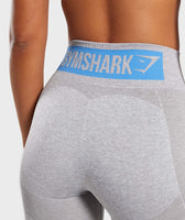 Gymshark Flex High Waisted Leggings - Light Grey/Blue 11