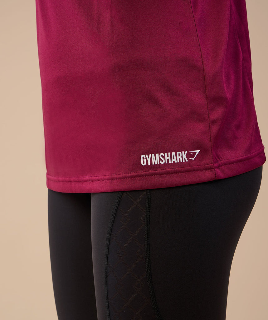 Gymshark Hooded Vest - Deep Plum 5