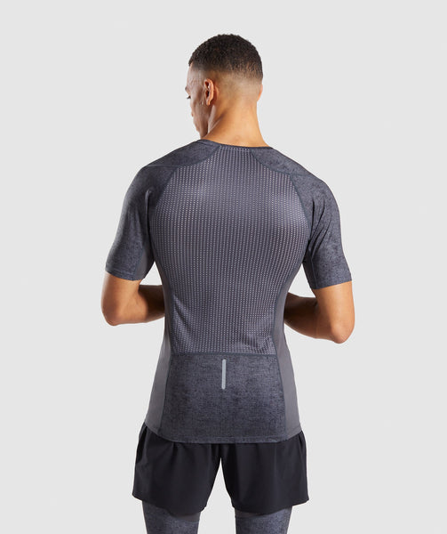 Gymshark Hybrid Baselayer Top - Charcoal Marl 4