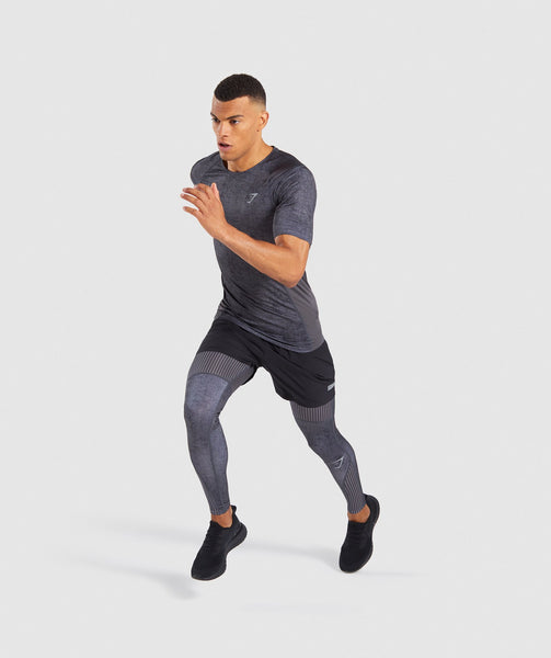Gymshark Hybrid Baselayer Top - Charcoal Marl 3