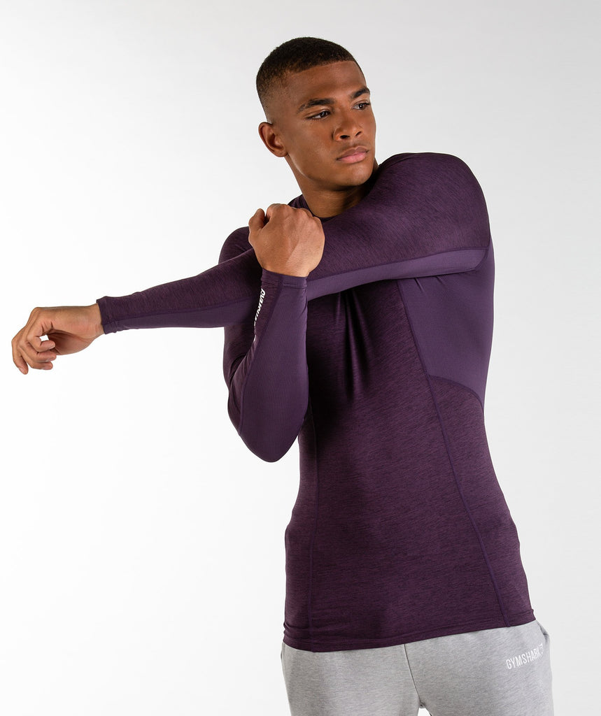 Gymshark Element Baselayer Long Sleeve Top - Nightshade Purple Marl 4