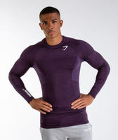 Gymshark Element Baselayer Long Sleeve Top - Nightshade Purple Marl 9