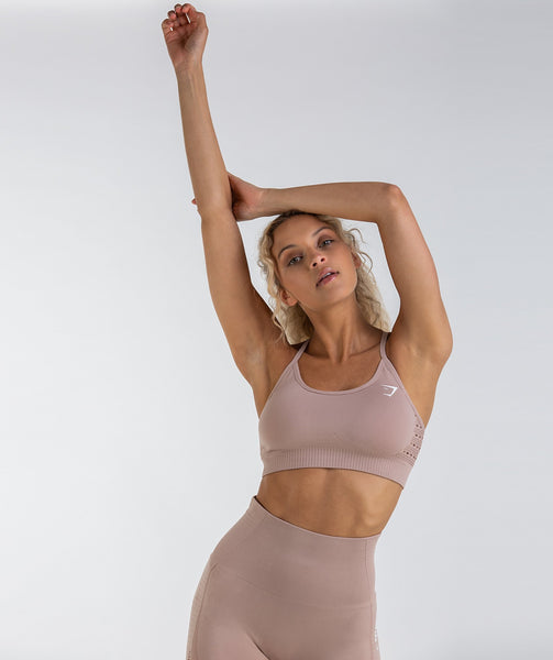 Gymshark Energy Seamless Sports Bra - Taupe 2