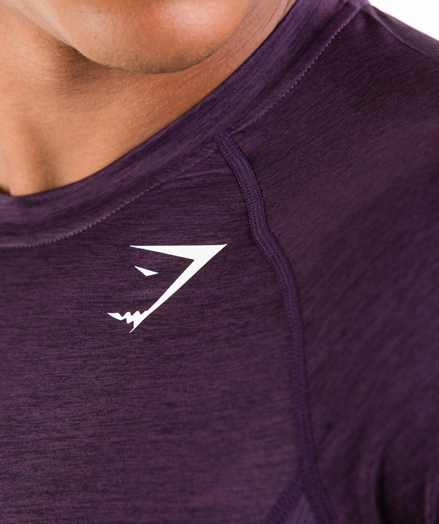 Gymshark Element Baselayer Long Sleeve Top - Nightshade Purple Marl 5