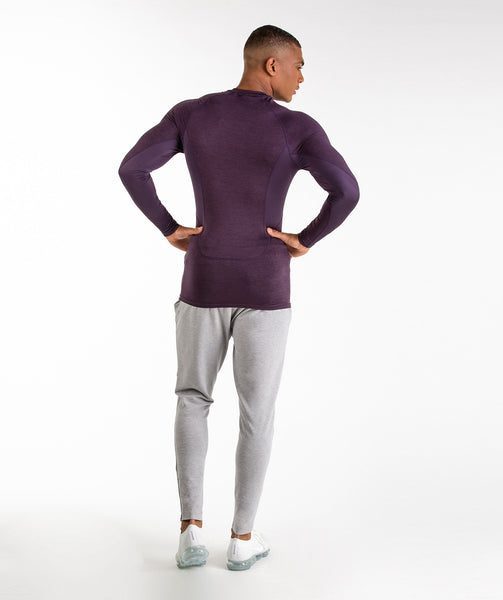 Gymshark Element Baselayer Long Sleeve Top - Nightshade Purple Marl 3