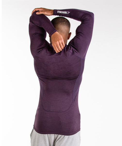 Gymshark Element Baselayer Long Sleeve Top - Nightshade Purple Marl 1