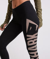 Gymshark Burnout Leggings - Black/Light Grey 11