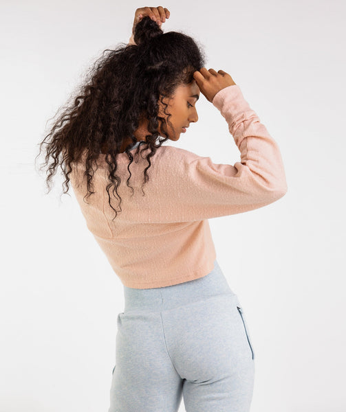 Gymshark Towel Sweater - Blush Nude 1