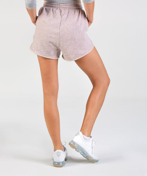 Gymshark Heather Dual Band Shorts - Taupe Marl 1