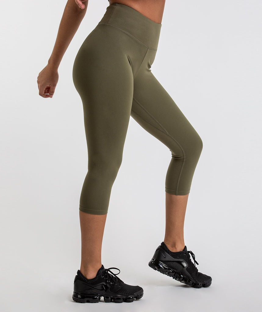 Gymshark Dreamy Cropped Leggings  - Khaki 1