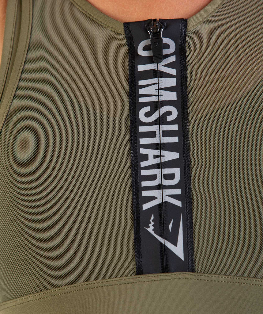 Gymshark Elevate Sports Bra - Khaki 5