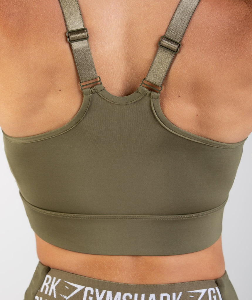Gymshark Elevate Sports Bra - Khaki 6