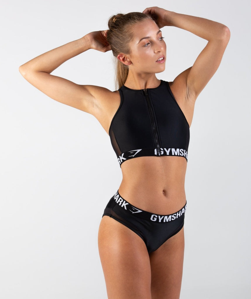 Gymshark Charge Sports Bikini Top - Black 1