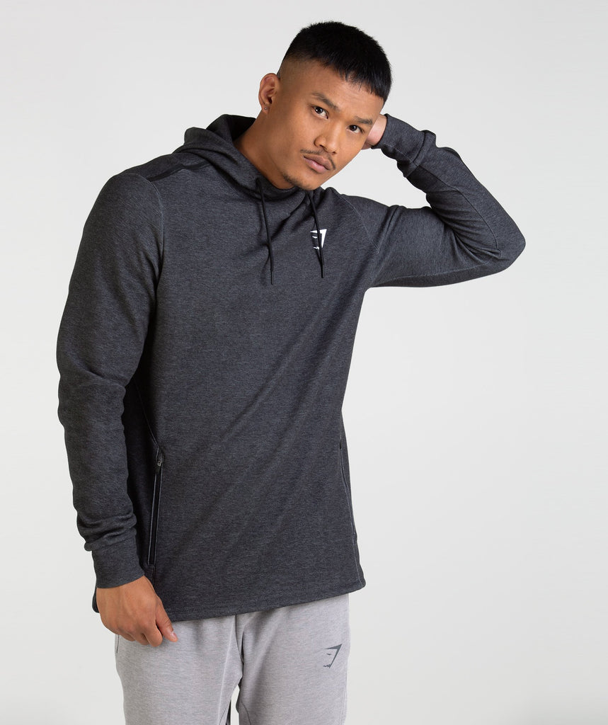 Gymshark Take Over Pullover - Black Marl 1