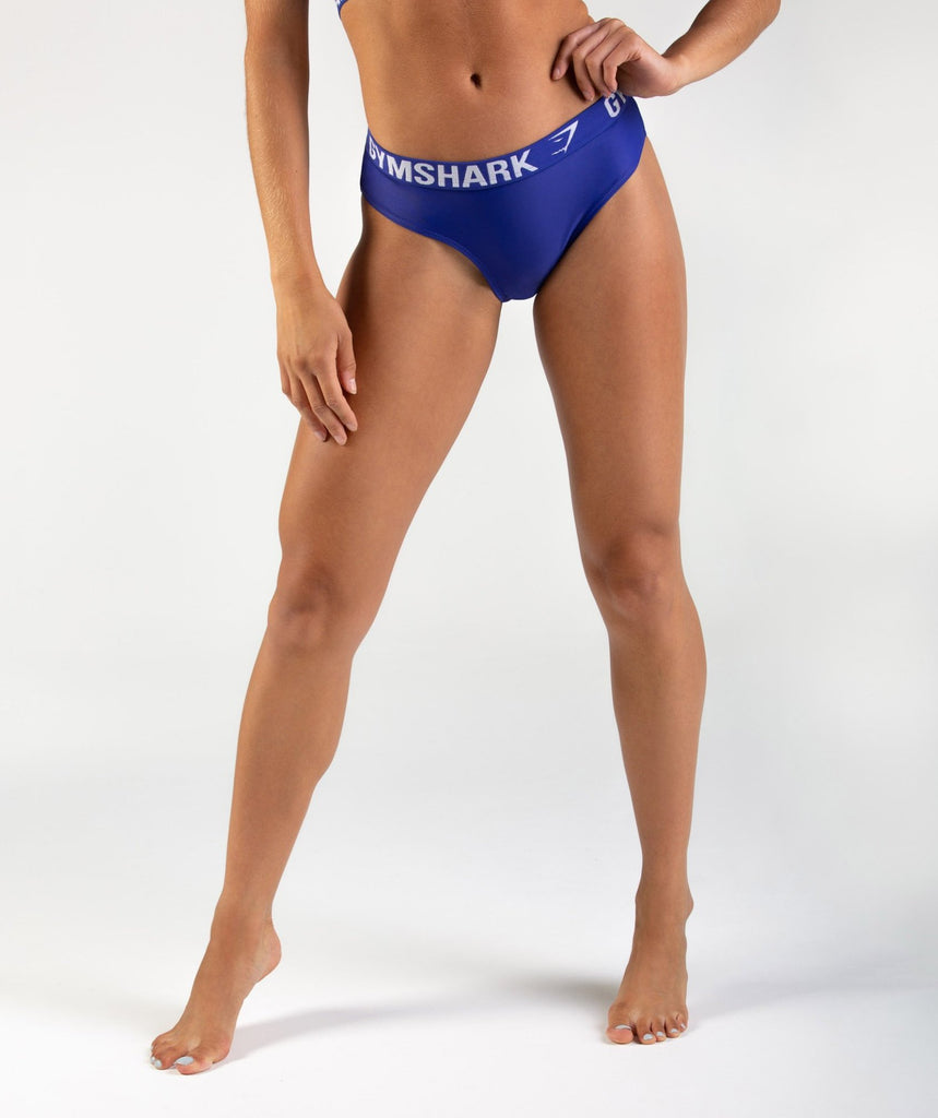 Gymshark Workout Bikini Bottoms - Indigo 1