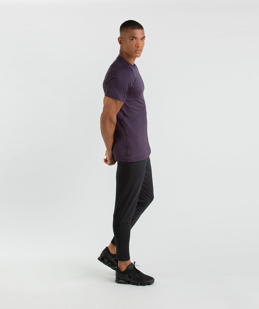 Gymshark Vertex T-Shirt - Nightshade Purple Marl 6