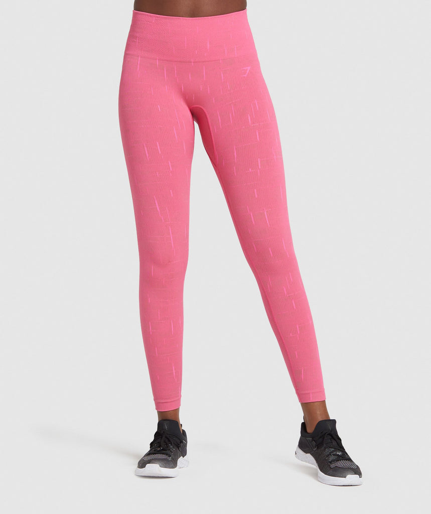 Gymshark Illumination Seamless Leggings - Pink 1