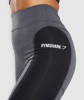Gymshark Illusion Leggings - Black/Charcoal/Light Grey 12