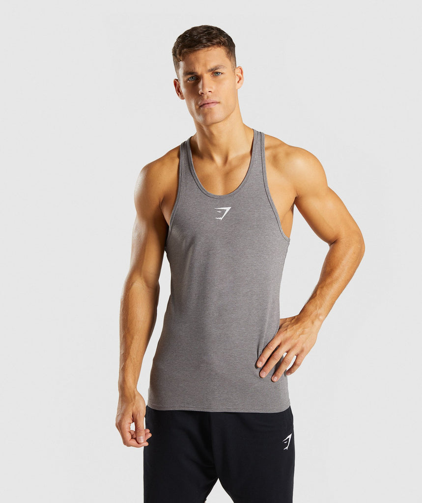 Gymshark Ion Stringer - Smokey Grey Marl 1
