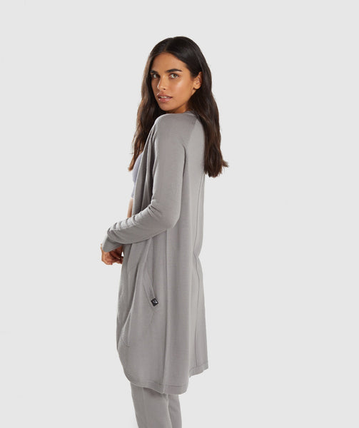 Gymshark Isla Knit Open Cardigan - Light Grey 2