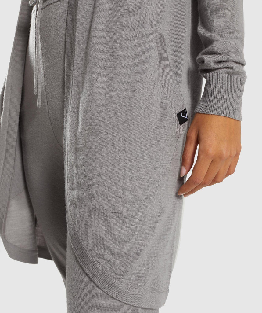 Gymshark Isla Knit Open Cardigan - Light Grey 6