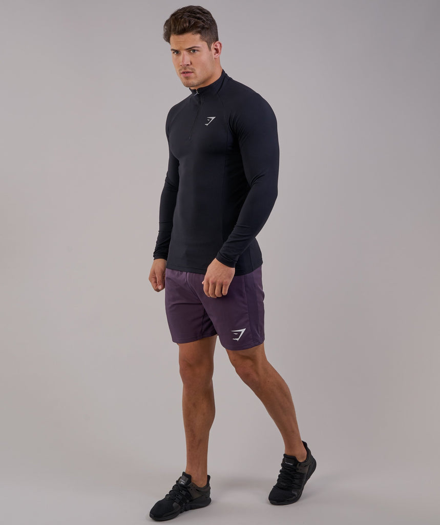 Gymshark Edge 1/4 Zip Pullover - Black 2