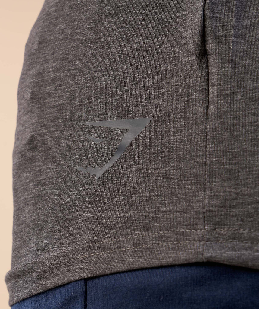 Gymshark Solace Longline Long Sleeve T-shirt - Charcoal Marl 5