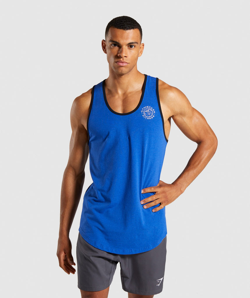 Gymshark Legacy Luxe Tank - Blue 1