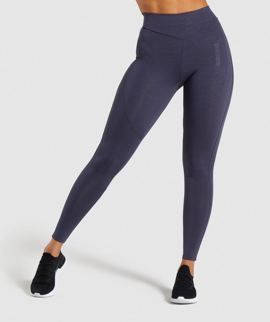 Gymshark Lustre Leggings - Dark Blue 1