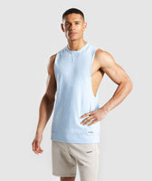 Gymshark Laundered Drop Arm Tank - Light Blue 7