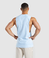 Gymshark Laundered Drop Arm Tank - Light Blue 8