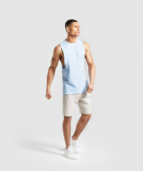 Gymshark Laundered Drop Arm Tank - Light Blue 2