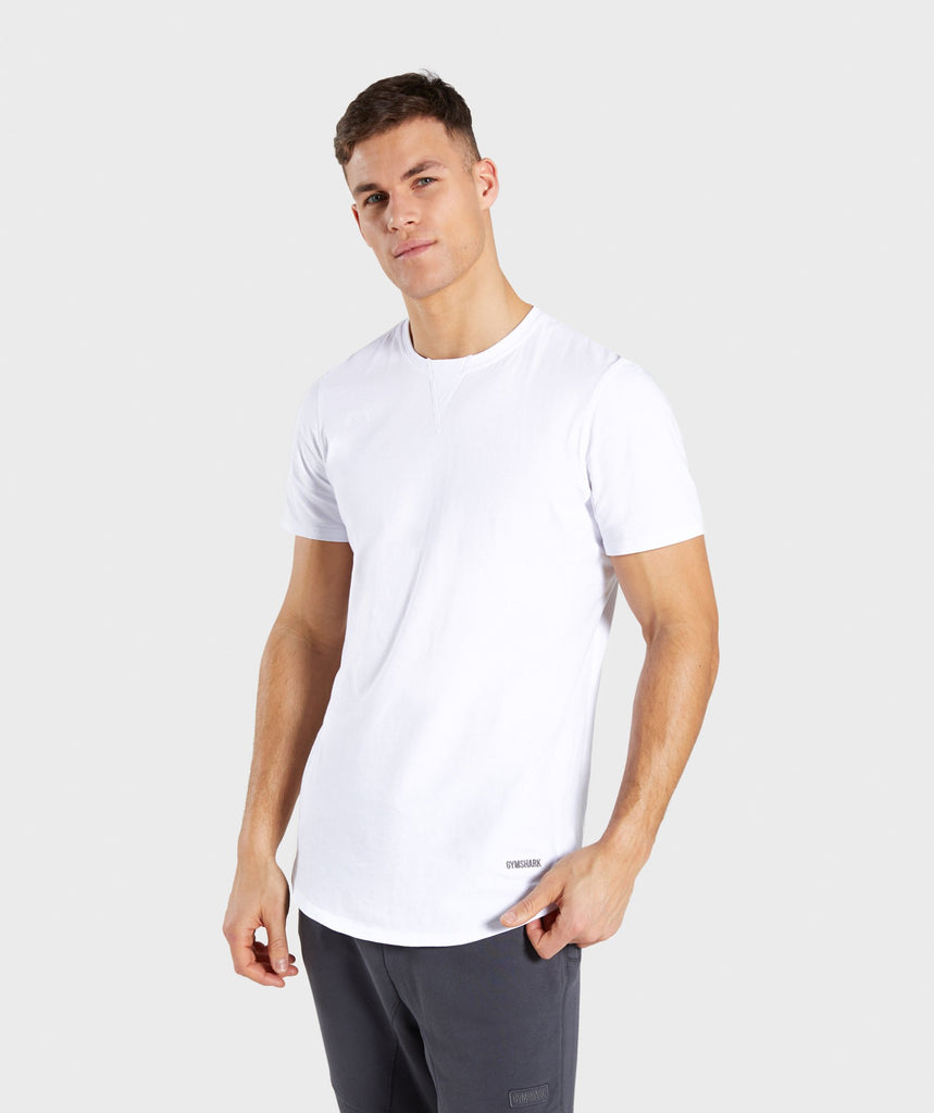 Gymshark Laundered T-Shirt - White 1