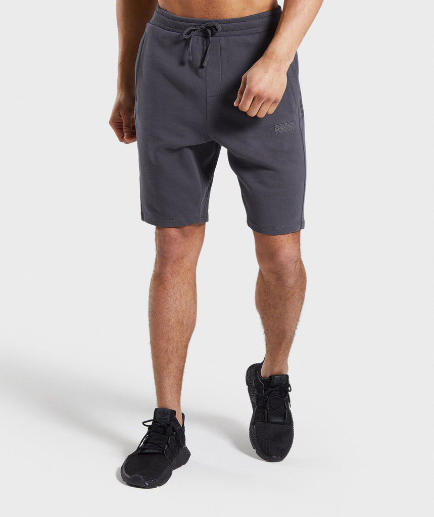 Gymshark Laundered Shorts - Charcoal 1