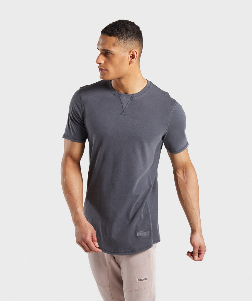 Gymshark Laundered T-Shirt - Charcoal 1