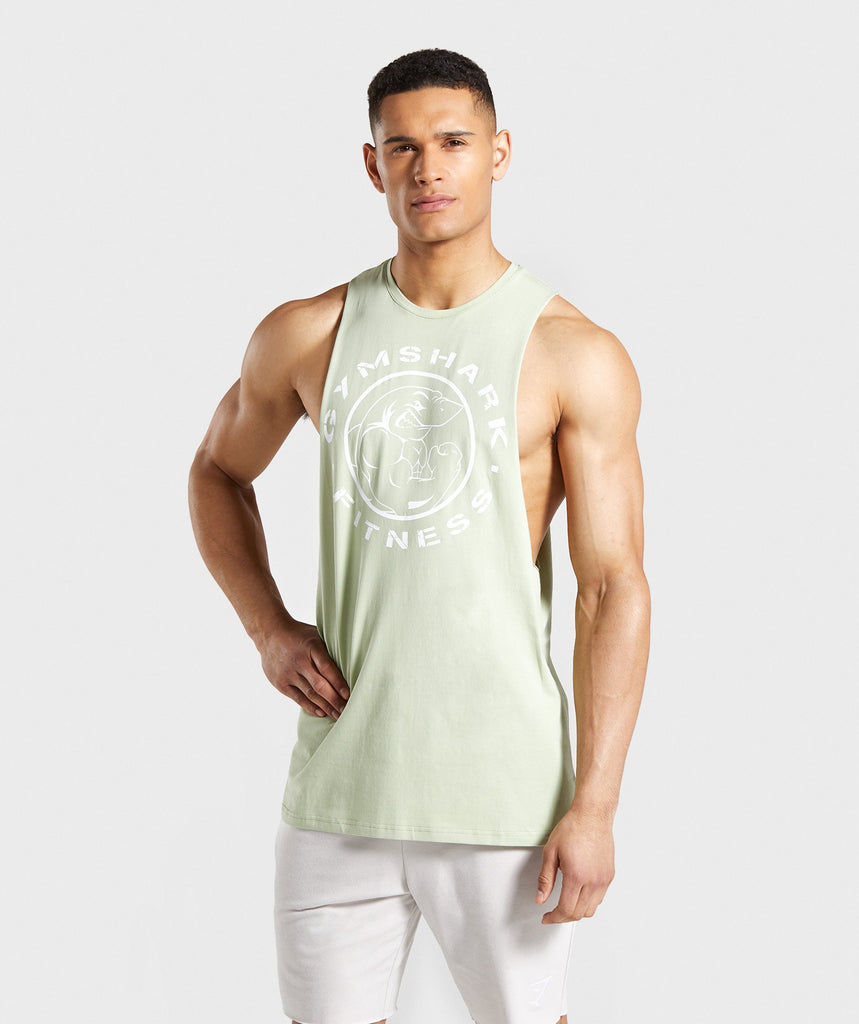 Gymshark Legacy Drop Armhole Tank - Light Green 1