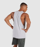 Gymshark Legacy Drop Armhole Tank - Grey/Red 8