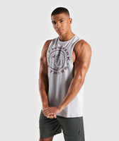 Gymshark Legacy Drop Armhole Tank - Grey/Red 9