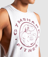 Gymshark Legacy Drop Armhole Tank - Grey/Red 11