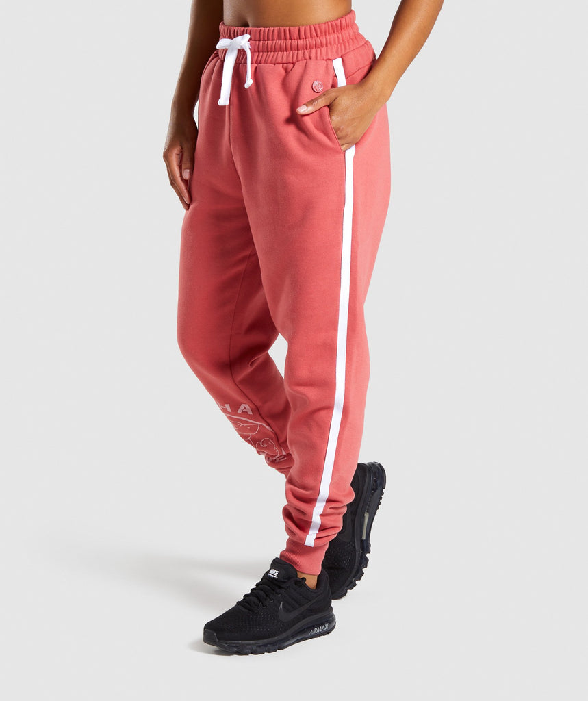 Gymshark Legacy Fitness Joggers - Brick Red 4