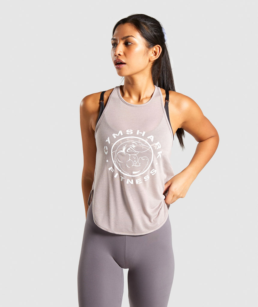 Gymshark Legacy Fitness Vest - Taupe 1