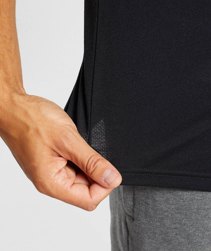 Gymshark Perforated Longline T-Shirt - Black 5